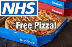 Free Dominos this Friday for NHS staff